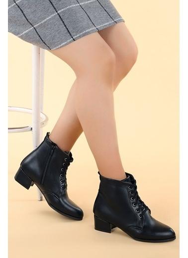 Ayakland Ayakland 6762-2114 Cilt Fermuarlı Termo Kadın Bot Ayakkabı Siyah
